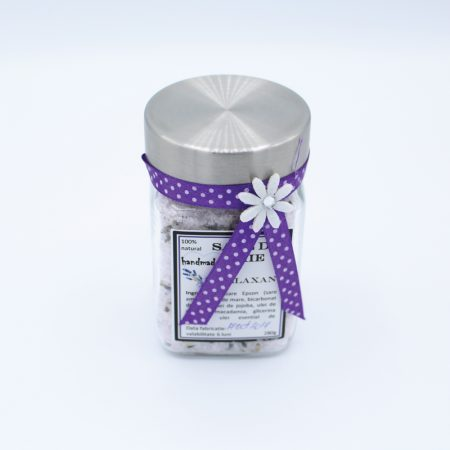 Sare de baie cu ulei essential de lavanda | Eddel | Handmade products | Power of nature